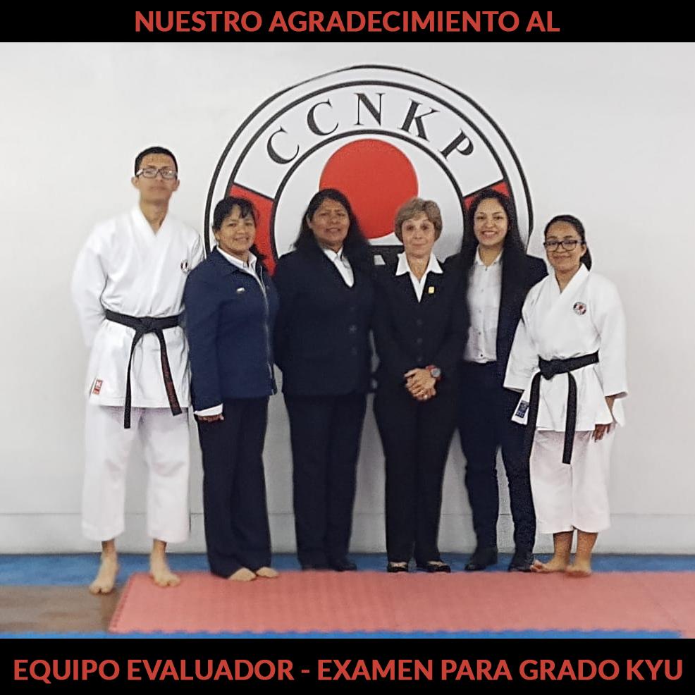 jurado del examen para el grado Kyu - Setiembre 2019